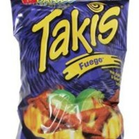 BARCEL TAKIS FUEGO CORN SNACK - HOT CHILI PEPPER & LIME