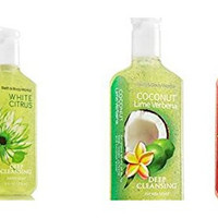 Bath & Body Works Citrus Scented Soap Bundle (Pack of 3) includes 1-Bottle Pink Grapefruit Deep Cleansing 8 oz + Coconut Lime Verbena Deep Cleansing, 8 oz + White Citrus Deep Cleansing, 8 oz