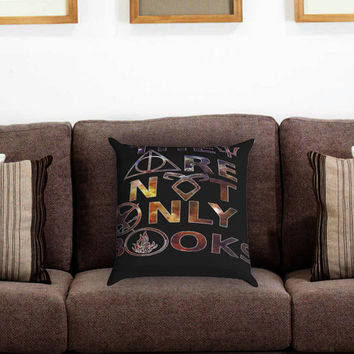 They Are Not Only Books Galaxy Nebula 2 Pillow Cover , Custom Zippered Pillow Case One Side Two Sides