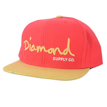 Diamond Supply Co. Script Snapback CAP Red