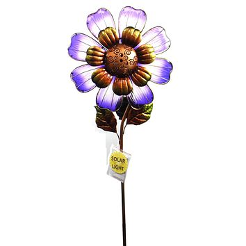 Home & Garden SOLAR GIANGT FLOWER STAKE PURPLE Metal Led String Lights 11568