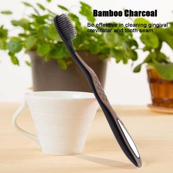 1pcs Super Soft Bamboo Charcoa Non-Antibacterial Dental Oral Clean Care Health Charcoal Toothbrush