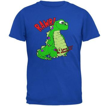 VONEG5F RAWR I Love You Dinosaur Mens Soft T Shirt