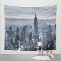 New York skyscrapers Wall Tapestry by Haroulita!! | Society6