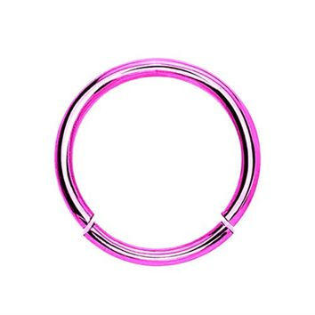 BodyJ4You 16 Gauge Pink Stainless Steel Segment Ring