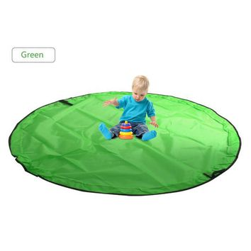 ABC 150cm Portable Kids Baby Play Mat Toy Large Storage Bag Organizer Blanket Rug Boxes Bin