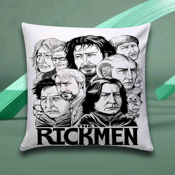 Alan Rickman the Rickmen Pillow case size 16x16, 16x24, 18x18, 20x30, 20x26