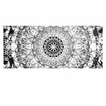 "Nina May ""Tie-Dye Mandala Jain"" Black White Illustration Luxe Rectangle Panel"