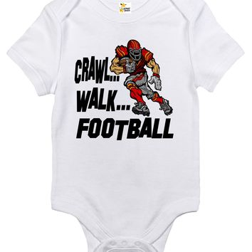 Baby Bodysuit - Crawl Walk Football