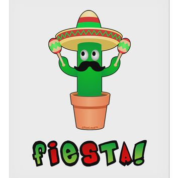 "Fiesta Cactus Text 9 x 10.5"" Rectangular Static Wall Cling by TooLoud"