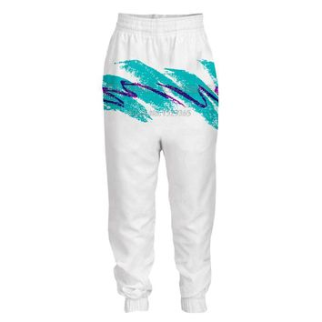 90s Paper Cup Solo Jazzy Pattern Jogging Long Pants