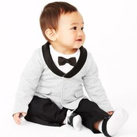 Miniclasix Three Piece Suit & Mud Pie Socks Set (Baby Boys) | Nordstrom