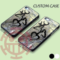 Black Love Browning Deer Camo for iPhone 5/5S, 5C Case, iPhone 4/4S Case, Samsung Galaxy S3 i9300, S4 i9500 Case.