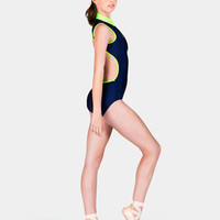Free Shipping - Adult Zipper Front Two Tone Tank Leotard by BAL TOGS