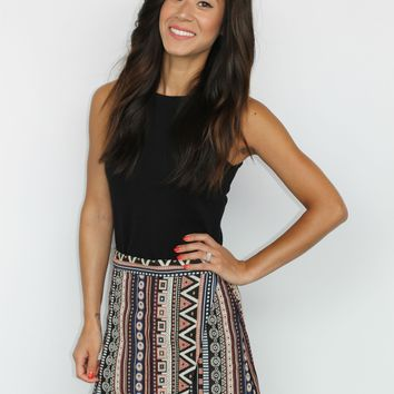Tribal Wrap Mini Skirt