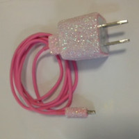 Customized Glitter IPhone 4/4S IPhone 5 Samsung Galaxy Charger in different colors