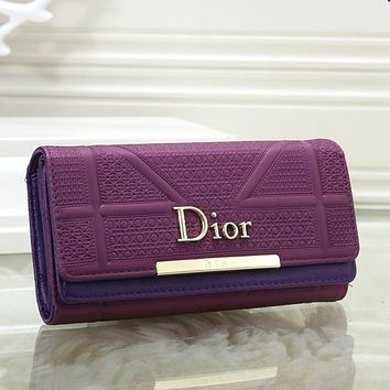 Dior Women Fashion Leather Purse Wallet
