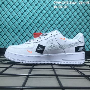 DCCK2 N145 Nike Air Force 1 Low Retro Just Do It Casual Sneaker Skate Shoes White