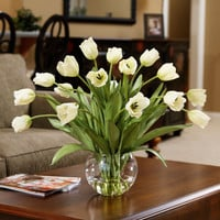 Abundance of Tulips Silk Centerpiece