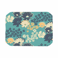 "Zara Martina Mansen ""Teal Color Bouquet"" Green Blue Place Mat"