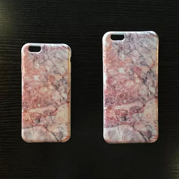 2016 New Pink Marble iPhone 6 6s Plus creative case Gift-132