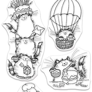 Penny Black Clear Stamps-Happy Critters