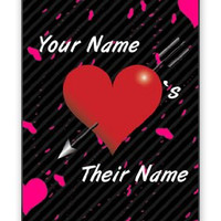 Personalized His Her Name Valentine's Day Custom iPhone 4 Quality Hard Snap On Case for iPhone 4 4S 4G - AT&T Sprint Verizon - White Case Cover