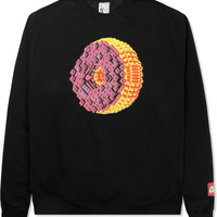 Odd Future Black OF Donut Crewneck Sweater | HYPEBEAST Store.