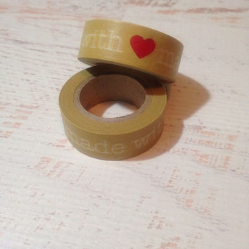 Made With Love Washi Tape