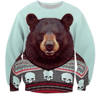 Bear in a sweater on your sweater