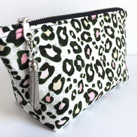 Leopard Cosmetic Bag,Small Makeup Bag,Small Travel Pouch,Leopard Purse Pouch,Small Cosmetic Bag,Small Zipper Pouch