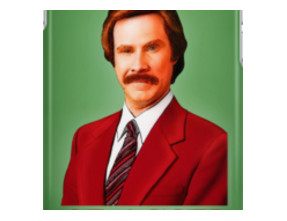ANCHORMAN - The Legend of Ron Burgundy.