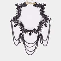 New Look Victorian Lace Choker Necklace