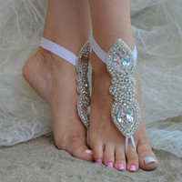 İvory lace.Barefoot Sandals, french lace, Nude shoes, Foot jewelry,Wedding, Bridal Anklet lace shoes, lace sandals, insoles accessories