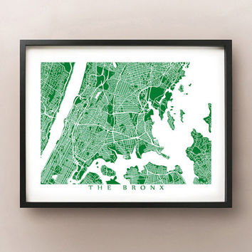 The Bronx Map Print - New York Poster