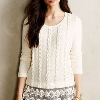 Lace-Dipped Pullover by Sunday in Brooklyn Ivory