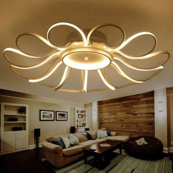 LICAN Modern led ceiling Chandelier lights for living room Bedroom home Dec Aluminum AC85-265V Ceiling Chandelier Lamp Fixtures