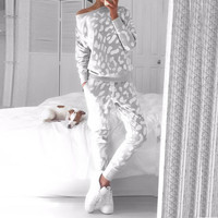 Women Casual Set New Arrival Women Clothes Sets Ballinciaga Tracksuits 2 Piece Set Women Suit Pants Printed Geometric Light Grey