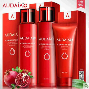 AUDALA Red megranate Cosmetics skin care facial cleanser emulsion Body care Nourish face care Ageless Beauty Moisturizing sets