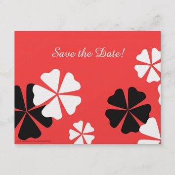 Save the Date 75th Birthday Party Red Postcard