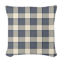 Faded Blue Squares Woven Throw Pillow> Faded Blue Squares> christmas