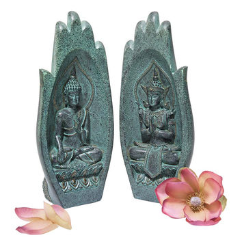 Park Avenue Collection Namaskara Mudra Buddha Hands Statue