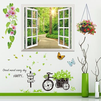3D Window Wall Paper