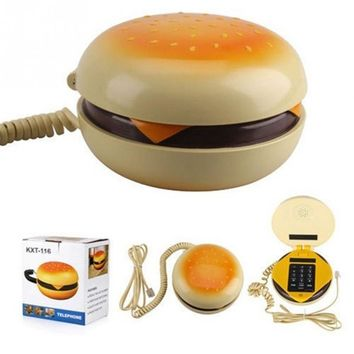 Durable CB2 Novetly Juno Hamburger Cheeseburger Burger Corded Phone Novelty Telephone Cute Gift
