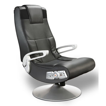 Michael Anthony Furniture X-Pedestal Black Pro Series Control Panel Gamers Chair