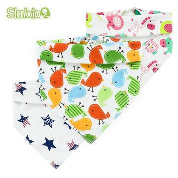 5pcs Baby Bibs Burp Children's Clother Baby Bibs Saliva Cute Towel Animal Plant Cartoon Burp Triangle Cotton Bandana Accessories