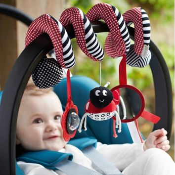 Beetle Ring Bell Stroller Hanging Baby Toy 0-12