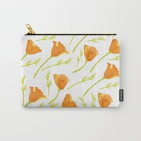 California Poppy Pattern Carry-All Pouch by Creative Break