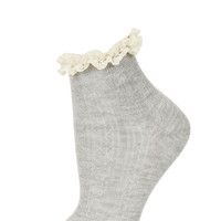 Grey Cream Lace Trim Socks - Basic Offers - Sale & Offers - Topshop