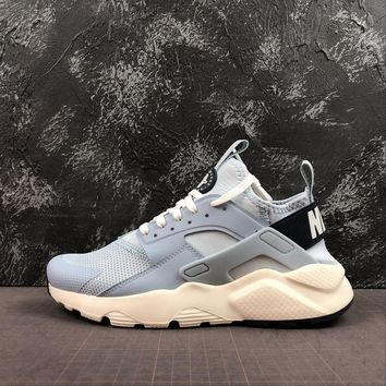 Nike Air Huarache White Light Blue Running Shoes - Best Deal Online